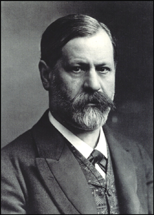 Portrait of a relatively young Sigmund Freud.