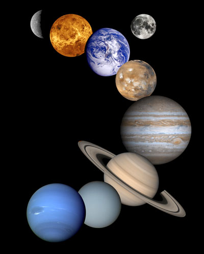 Picture of all nine planets in the solar system.