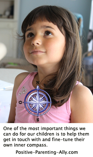 One of the most important aspects in spiritual parenting is helping children get in touch with their inner compass.