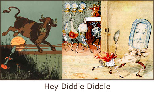 Nurcery rhymes such as Hey Diddle Diddle can be a great learning experience for your little one