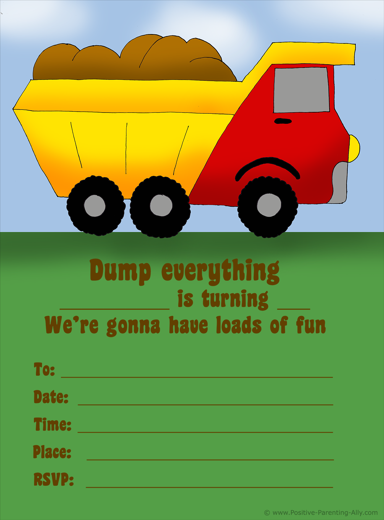 image regarding Monster Truck Birthday Invitations Free Printable referred to as Absolutely free Birthday Invites in the direction of Print for Young children: Determine Your Concept