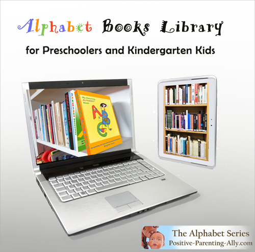 Large alphabet books libraby for preschoolers and kindergarten kids.