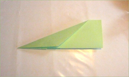 Origami airplane step 5.