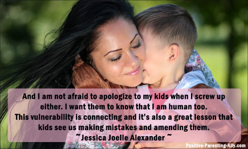 Mending relationships with children by learning to apologize leads to an overall better parenting life.