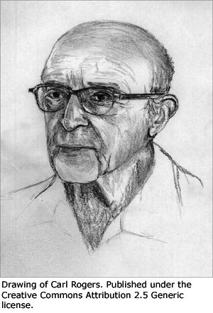 Drawing of Carl Rogers.