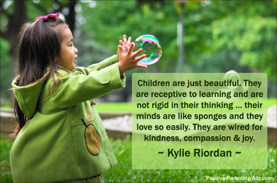 Children are beautiful and wired for kindness and compassion. Wonderful example of conscious loving and kindness quotes.