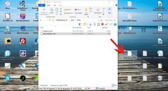 Drag config file to desktop.