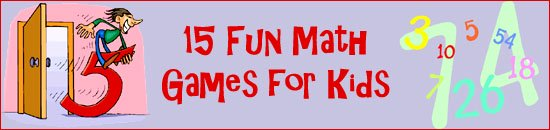Fun math games for kids: Funny drawing of cartoon man riding a number five.