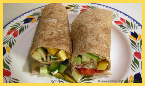 Delicious tortilla afternoon snack. An easy kids snack recipe.