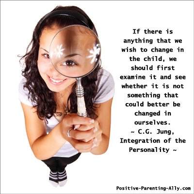 Jung quote on children and looking at yourself first.