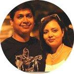 Photo of Kavita Goyal and her husband Prabhat