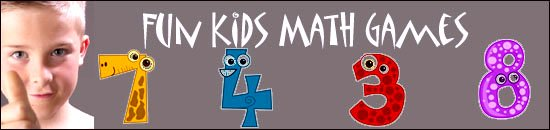 boy giving kids math games thumbs up: Funny cartoon numbers.