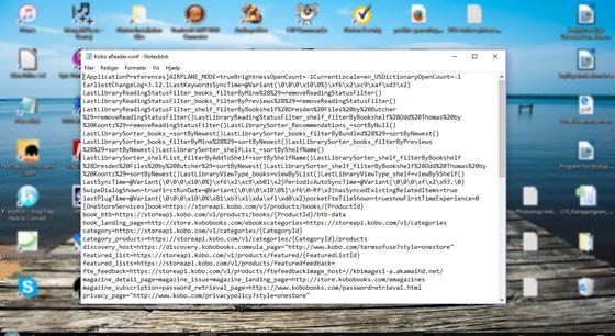 Open config file on kobo