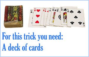 Magic card trick for kid: The floating card trick.