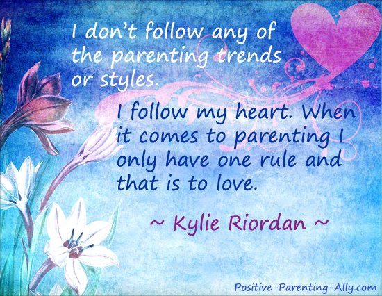 Parenting quote by Kylie Riordan on love being the only rule in parenting.