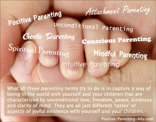 Infographic image of various high level parenting styles and what they are all conveying.
