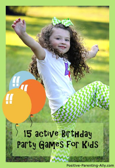 15 fun party games for kids ideal for an active birthday.