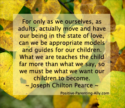 Long quote by Joseph Chilton Pearce on being in the state of love with your children.