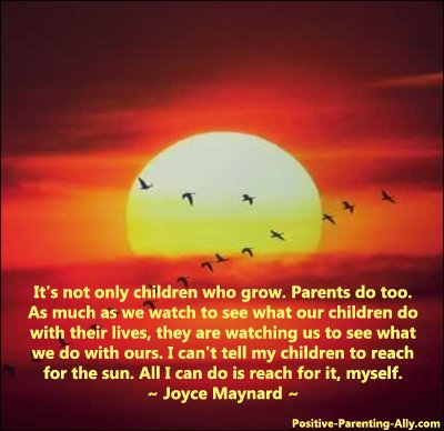 Quote by Joyce Maynard on children growing and reaching for the sun.