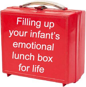 Picture of red lunch box which symbolically represents a life pack filled with self esteem.