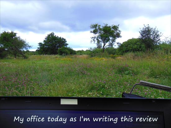 Working in nature while writing a review of Site Build It!