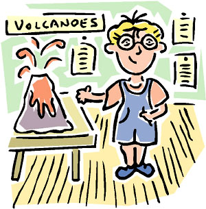 Make an erupting volcanp as one of the fun science experiments for kids.