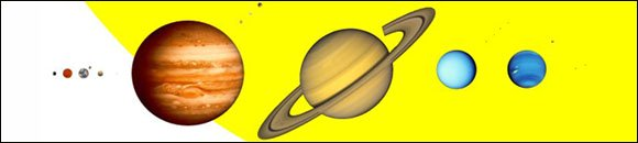 Solar system for kids: Picture of the 9 planets.
