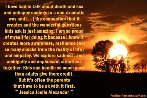 Daring to bridge tough subjects with kids and presenting reality as it is by Jessica Joelle Alexander.