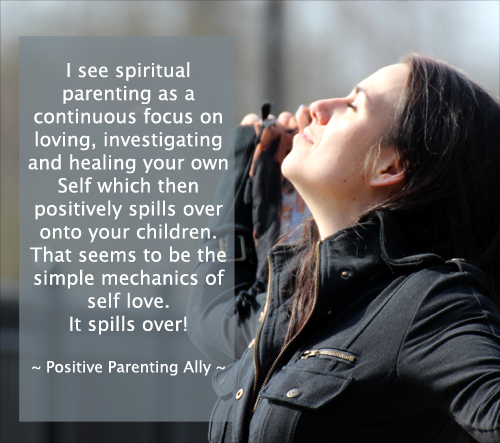 Spiritual parenting quote on the nature of love.