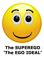 The superego as the ego ideal - smiley icon