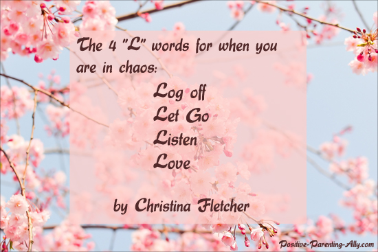 Christina Fletcher's spiritual parenting toolbox: the 4 words for when you are in chaos.