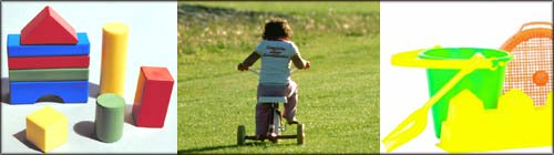 Toddler on tricycle as a part of toddler activities outdoors.