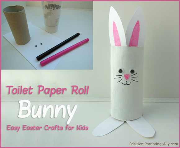 Cute toilet roll bunny for Easter.