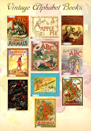 Vintage Alphabet Book Series: Lots of old, antique alphabet books.