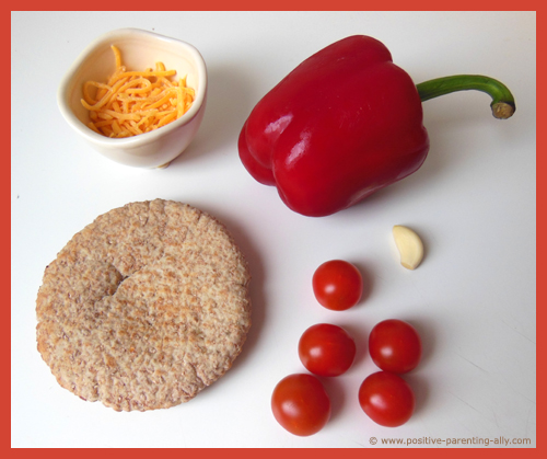 Ingredients for the cheese pita.