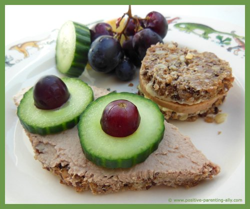 Wholegrain sandwich idea for kids for their lunch box.