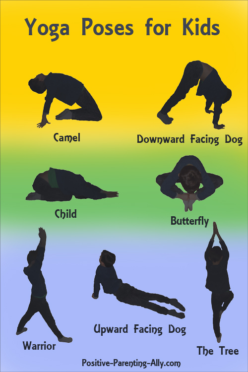 7 easy yoga poses for kids to convert into fun games for kids.