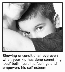 Parents loving unconditionally. Mother holding, hugging and comforting her little boy!