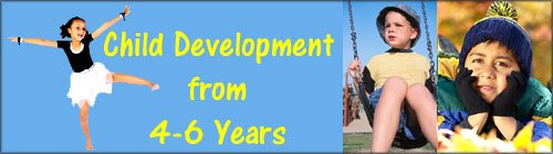 Child development stages article: preschool children from 4 years to 6 years.