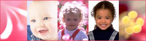 Self esteem activities: potrait of smiling baby, toddler in flower field, happy girl smiling.