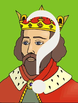 Authoritative parenting style: color drawing of king with a questionmark