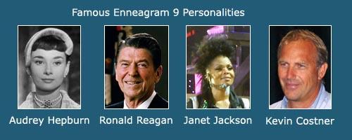 The Peacemaker - Ennegram 9 - Audrey Hepburn - Ronald Reagan - Janet Jackson - Kevin Costner
