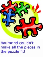 Harmonious parents that didn't fit the puzzle. Pieces don't fit!