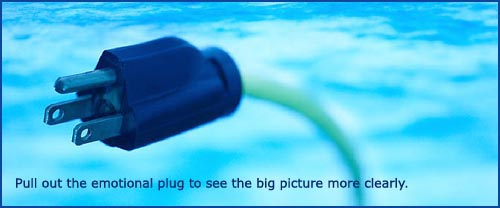 Good parenting skills: pretty picture of plug and wire on a blue background.