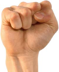Narcissistic Parents: Photo of a clenched fist.
