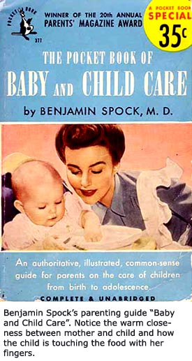 Front cover of Benjamin Spock's book, Baby and Child Care.