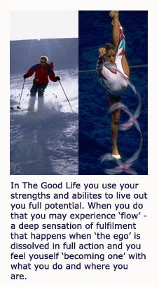 The good life, being in flow, Mihaly Csikszentmihalyi