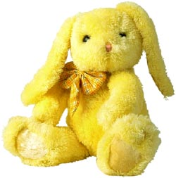 Picture of cute yellow rabbit teddy bear!