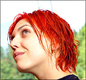 Teen identity - girl with red hair.