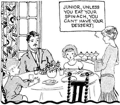 Conditional parenting example: pencil sketch drawing of familiy sitting at the dinner table.